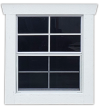 24x27 Shed Window Option
