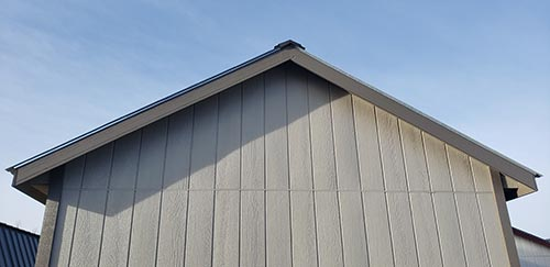 Deluxe Roof Overhang Option for storage building
