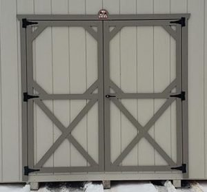 Sturdy Built Sheds Double Door Option