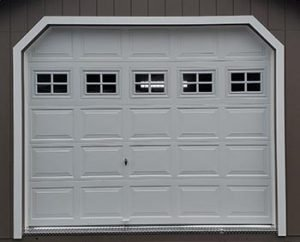 Overhead Garage Door Option for Sheds