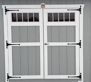 Transom Double Door Option for storage sheds