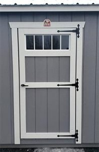 Transom Single Shed Door Option