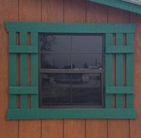Shed Window with Wood Shutters Option